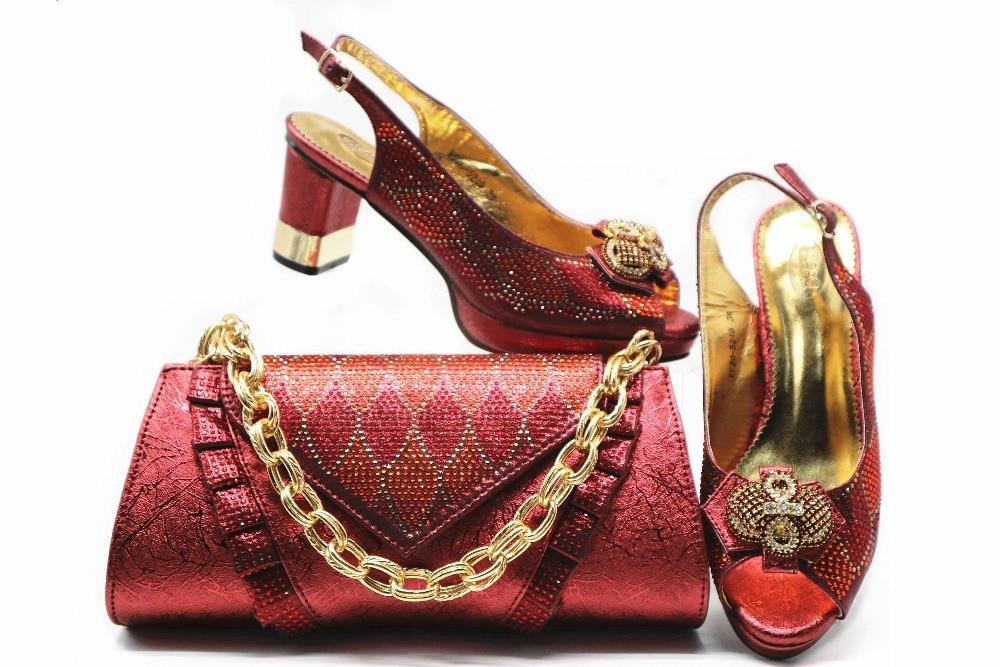 green 2019 Mujeres Bolso Bolsa silver Dark De Fiesta Zapato Nigeriano Y Caliente Venta Italiano Para Las Zapatos red gold Blue FqtFTr