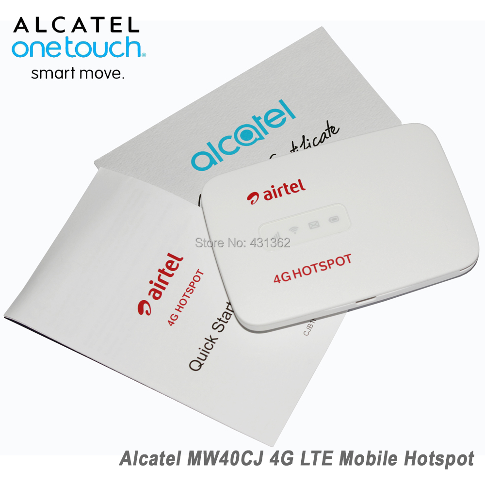 US $39 8 |Unlocked Alcatel Link Zone MW40CJ 4G LTE 150Mbps Mobile WiFi  Wireless Router-in 3G/4G Routers from Computer & Office on Aliexpress com |