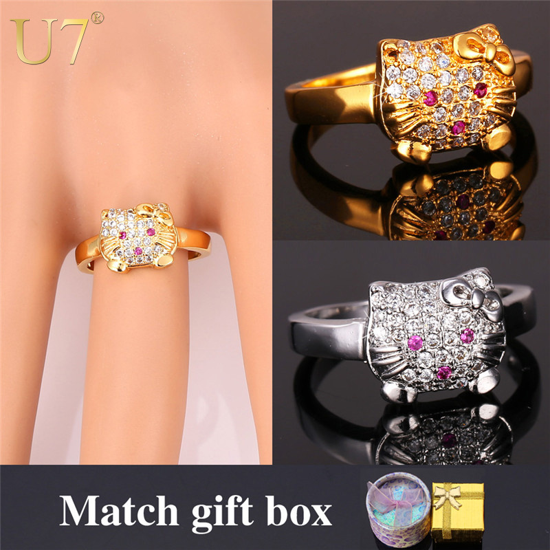 Aliexpresscom Buy Hello Kitty Ring For Women Wholesale 2015