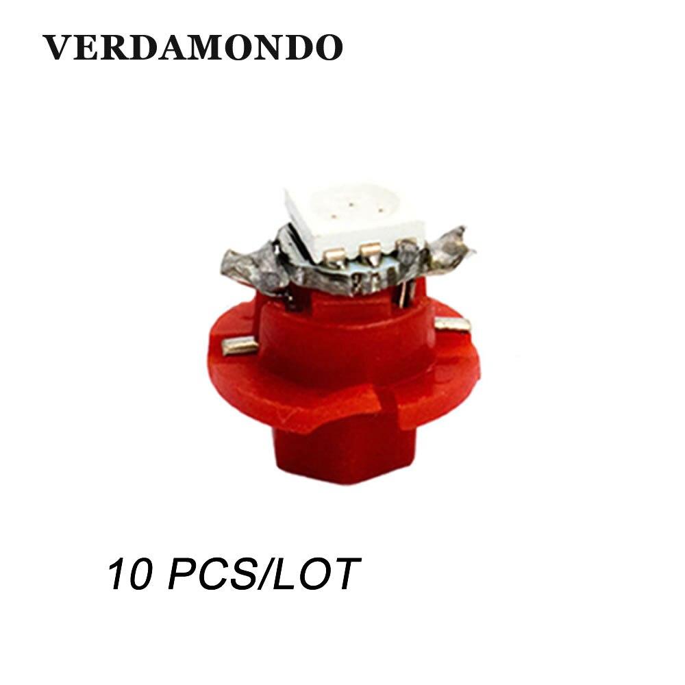 10PCS B8.4  B8.4D 1 LED 5050 SMD Car Dashboard Warming Indicator Wedge Light Bulb Auto Lamp Instrument Lights 12V DC 7 Colors