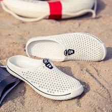a541fd383f0 Pantoufles de plage chaussures d été hommes femmes sandales d extérieur  hommes chaussures de sport en caoutchouc respirant riviè.
