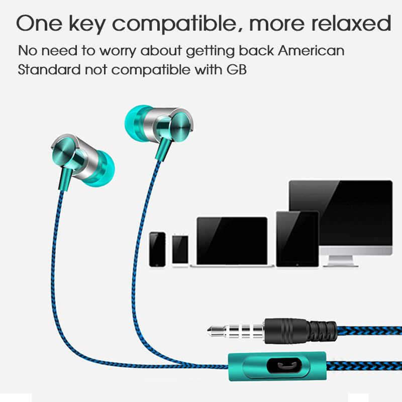 TRANSCTEGO uniwersalne słuchawki przewodowe wysokiej jakości słuchawki z mikrofonem stereo super bass sportowe do biegania zestaw słuchawkowy