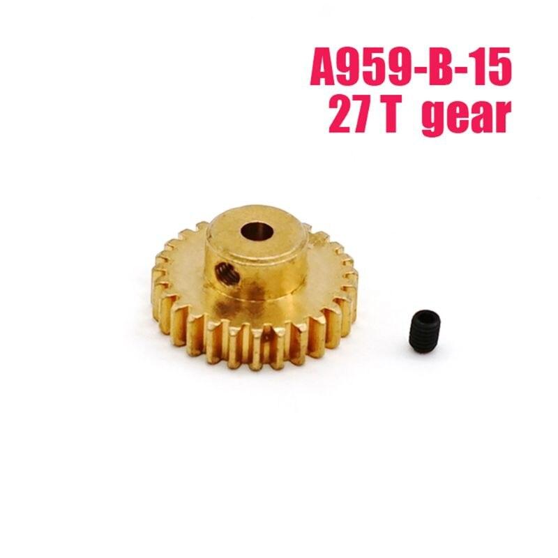 Металлические моторные шестерни 27 T для WLtoys A959-B-15 A969-B A979-B 540 двигатель автомобиля RC января-30
