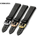 CHIMAERA 18mm 19mm 20mm 21mm 22mm Black Watchband  France calf leather Watch band Strap with Pin buckle For Tissot Casio Seiko