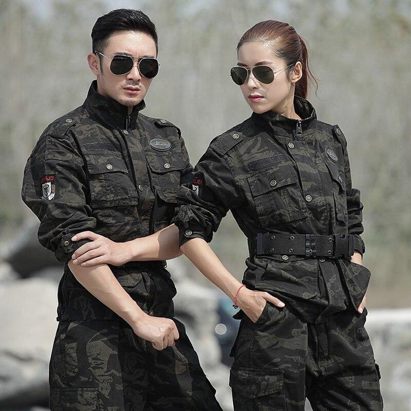 Hiver coton militaire chasse vêtements hommes femmes Uniforme militaire tactique Combat chaud Ghillie costume noir Hawk US armée uniformes