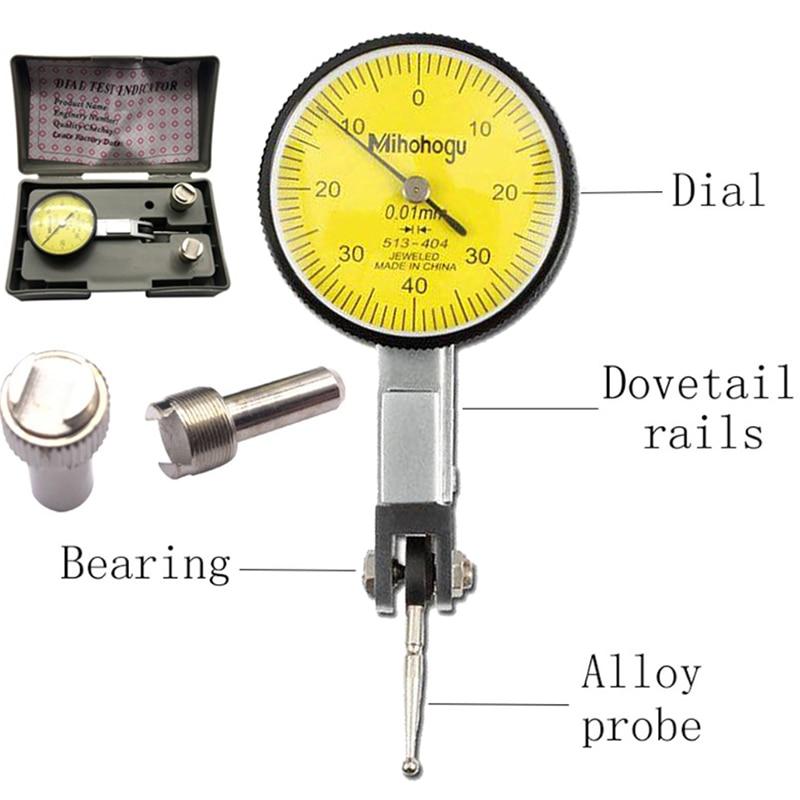 Точный измерительный индикатор, точный индикатор с креплением на рельсы ласточкиного хвоста 0-40-0 0,01 мм, универсальный измерительный инстру...