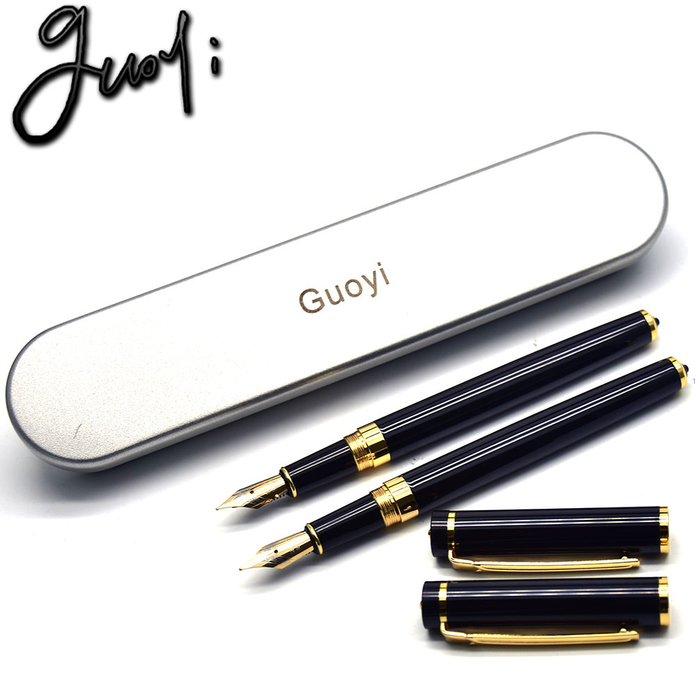 Guoyi Z360 Brand Fountain pen. 0.5mm nib ink pen. School Gifts Stationery Office Learning Student Business Gift Pen