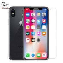 "9H Tempered glass Screen protector film For iphone Xs Max XR X 10 8 4 4s 5 5s 5c SE 6 6s 7 7s plus 6.1"" 6.5"" 2018 Cover case(China)"