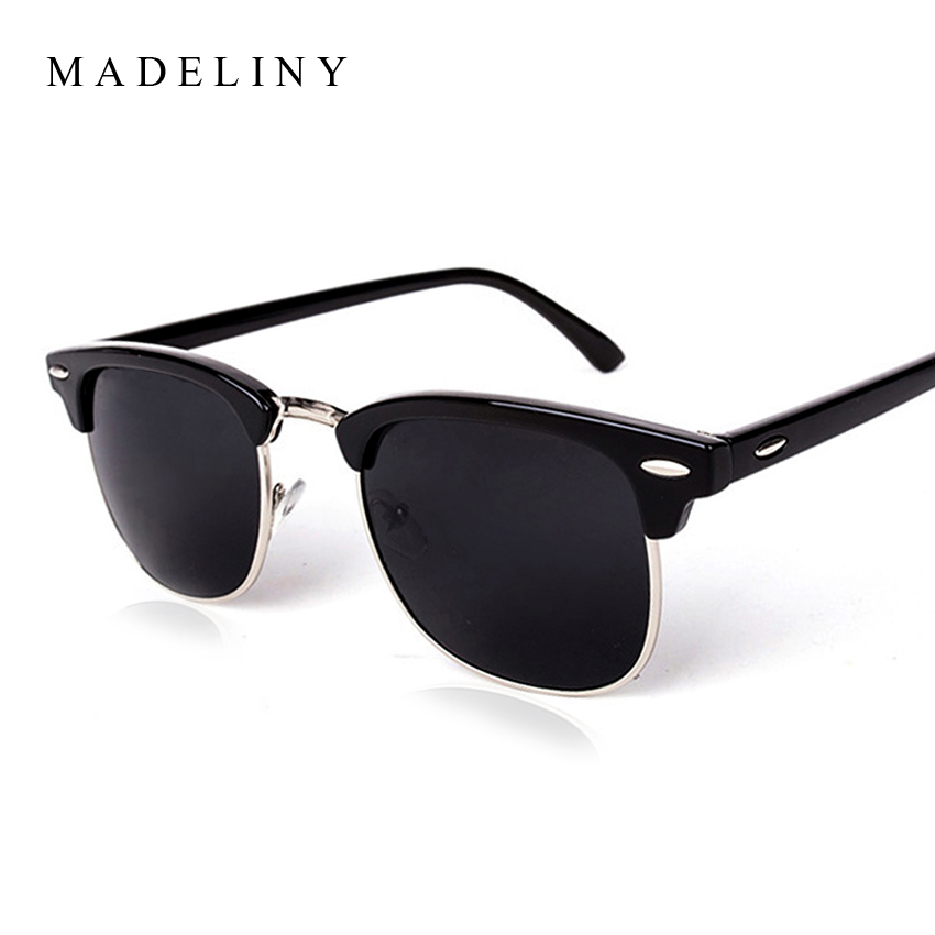 MADELINY New Square Polaroid Men Sunglasses Women Brand Designer Fashion gafas de sol sun glasses oculos