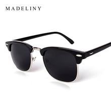 MADELINY New Square Polaroid Men Sunglasses Women Brand Designer Fashion gafas de sol sun glasses oculos de sol feminino MA016