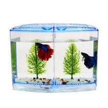 Aquarium Acrylic Double Betta Bowl Fighting Fish Mini House Incubator Box For Fry Isolation Hatchery Reptile Cage Turtle House