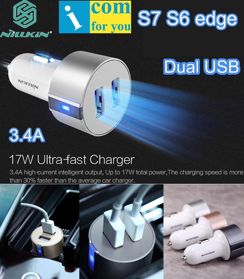 Nillkin Vigor Quick 5V 3.4A Two Dual USB Car Charges