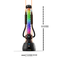 2018 Luxury Bar e Hookah Led Electric Big Shisha Hookah Pipe Colorful 2 Hose Smoking Tool Accessories JL 107EC