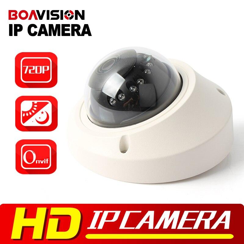 Dome Vandalproof IP Camera 1.0MP 720P IR 10M Night Vision 3.6mm Lens Network H.264 HD Security CCTV Camera IP Onvif P2P Cloud