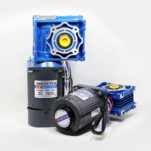 220v AC gear reducer motor slow speed small 90W forward and reverse self-locking worm strong