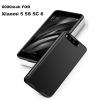 6000mah Power Bank Portable Battery Charging Case For Xiaomi Mi 6 External Battery Backup Case Cover