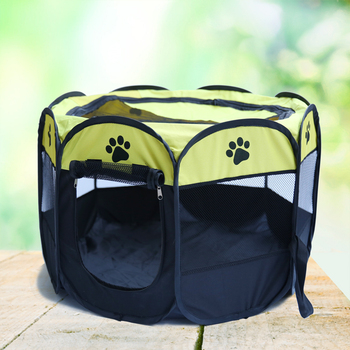 90x60x36CM  Folding Pet Tent Playpen Dog Bed Fence Puppy Kennel Folding Exercise Play Foldable Design Easy to Carry Save Space