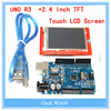 UNO R3 MEGA328P For Arduino 2 4 Inch TFT Touch LCD Screen Module For Arduino UNO