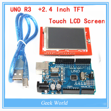 UNO R3 MEGA328P For Arduino +2.4 Inch TFT Touch LCD Screen Module For Arduino UNO R3