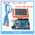 UNO R3 MEGA328P Para Arduino + 2.4 Pulgadas TFT Pantalla Táctil LCD Módulo Para Arduino uno R3