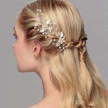 Fashion Hair Jewelry Women Wedding Accessories Brides Delicate Pearl Rhinestone Luxury Crystal Hairpin Bridal Romantic Hairpins