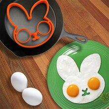 Мода 1 шт. оранжевый силиконовый кролик лицо в форме яйца кулинарные формы форма-кольцо для блинов кухонные инструменты приспособление