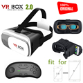 100% Original VR BOX 2.0 Virtual Reality Google Cardboard For 3.5 - 6.0'' phone Iphone/Xiaomi vr heaset 3D Glasses with gamepad