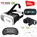 100% Original VR BOX 2.0 Virtual Reality Google Cardboard For 3.5 - 6.0'' phone Iphone/Xiaomi vr heaset 3D Glasses with gamepad