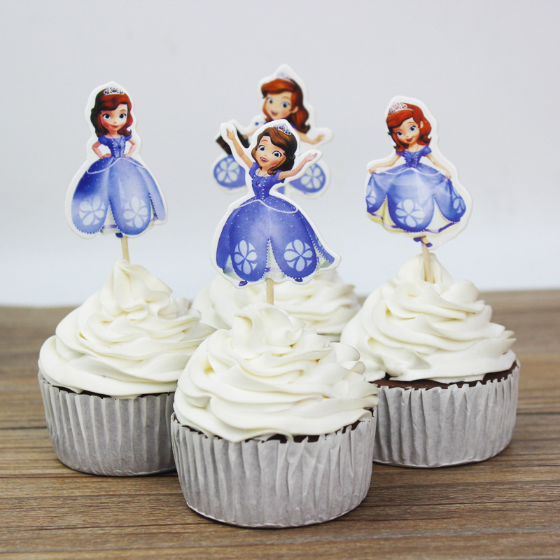 princess cake topper christmas happy birthday party decorations