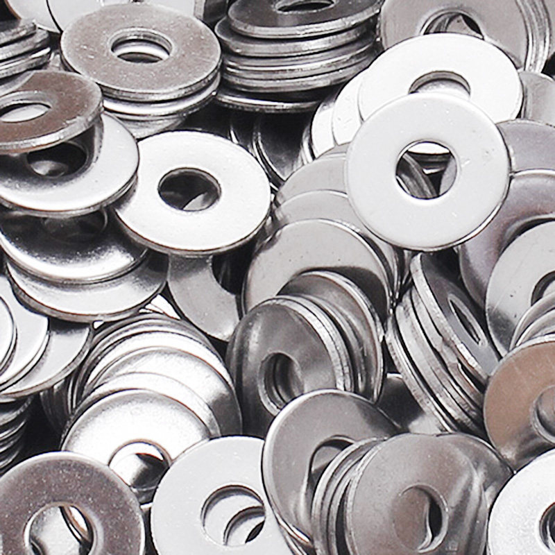 100 pieces M6 304 stainless steel washers Large Size Gasket Ring Flat Washer 18 x 1.5 mm 6.4 Bore diameter Grade Plaine Washer 50 pieces metric m4 zinc plated steel countersunk washers 4 x 2 x13 8mm