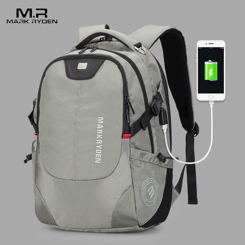 Mark Райден Для мужчин рюкзак моды многофункциональный зарядка через usb Для мужчин 15 дюймовый ноутбук рюкзаки Bisiness сумка для Для мужчин