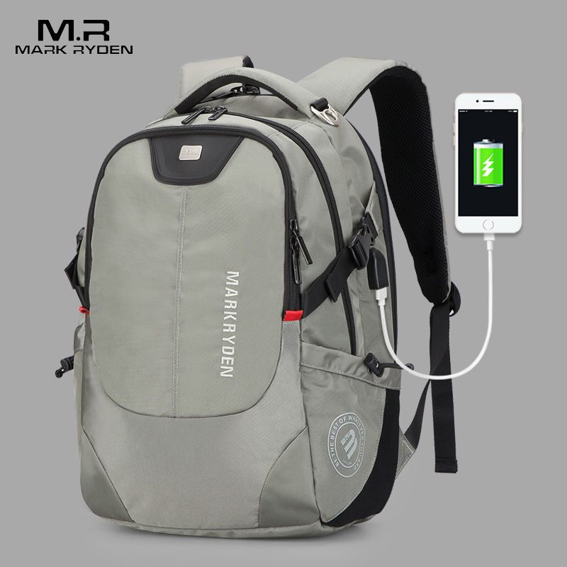 Mark Ryden mochila de los hombres de moda multifunción USB cargador hombres 15 pulgadas portátil mochilas Bisiness para los hombres