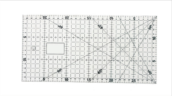 30 Pcs Quilting Tools Approximate Blue Acrylic Material 30cm * 15cm * 3mm Patchwork Ruler