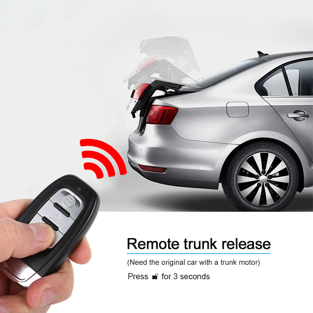 Auto Car Alarm Engine Start Stop Button Remote Start Open And Close Windows  Version Smart Key PKE Passive Keyless Entry System