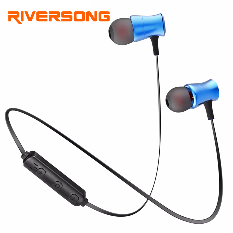 Sports Wireless Bluetooth Earphones V4.1 Stereo Running Headphone Magnet Noise Reduction Earbuds with Mic for xiaomi Samsung ctrinews stereo bluetooth earphone sports running bluetooth earbud wireless earphones noise cancelling auriculares for xiaomi