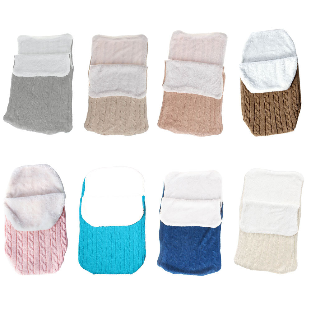 Thick Baby Swaddle Wrap Knit Newborn Sleeping Bag Warm Swaddling Blanket Sleep Sack