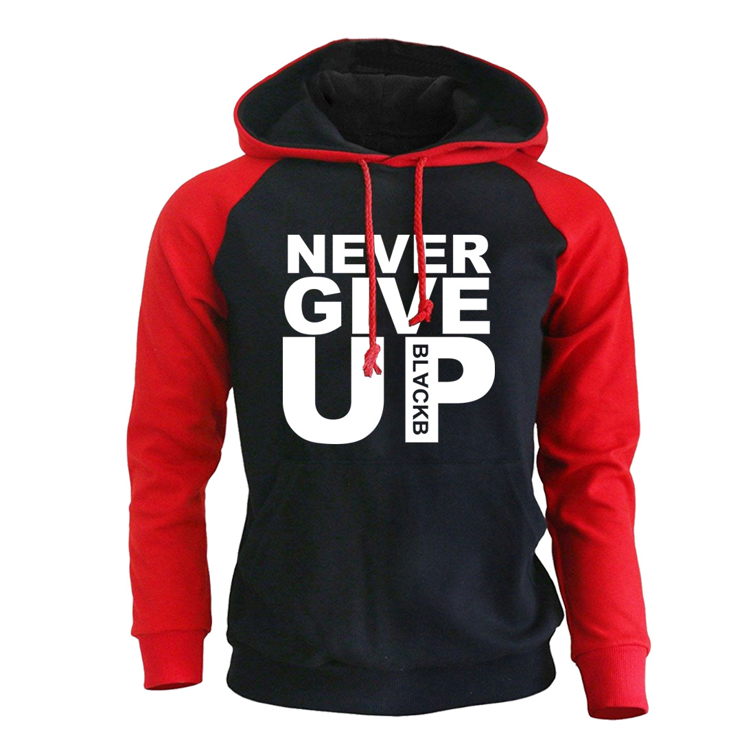 You'll Never Walk Alone Men Hoodies Sweatshirts 2019 Autumn New Male Raglan Hoodie Never Give Up Print Tracksuit Man Pullover