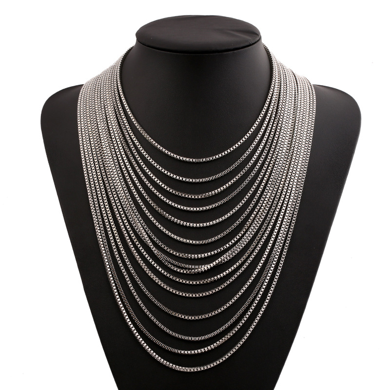 Multilayer Rolo Chain Collar Necklaces for Women Fashion Jewelry European Ladies Hyperbole Clavicle Girls Retro Necklace Jewelry