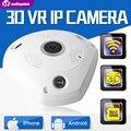 Vr unitoptek hd 960 p câmera ip wifi 1.3mp lente fisheye panorâmica 3d câmera de segurança sem fio visão noturna de vigilância cctv cams