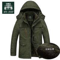 30 Degree 2017 Winter Warm Thick Mens Down Jackets And Coats Nature Cotton Parka Brand