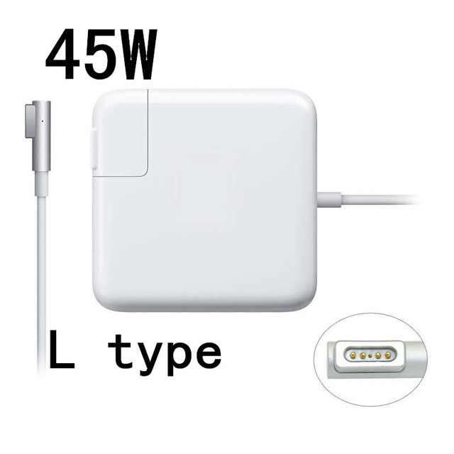 New High Quality Replacement 45W L Type Magsafe Power Adapter Charger For Macbook Air A1244 A1374 A1304 A1369 A1370 A1377.