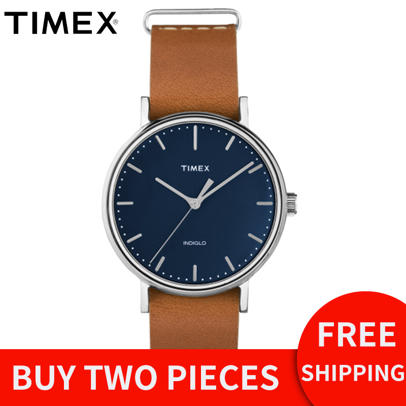 2018 Rushed Special Offer For Timex Mens Watches Weekender Fairfield Tw2p983 Blue Simple Quartz Leather Buckle Unisex Watch