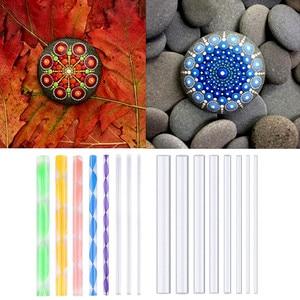 8PCS Acrylic Rods Mandala Dott