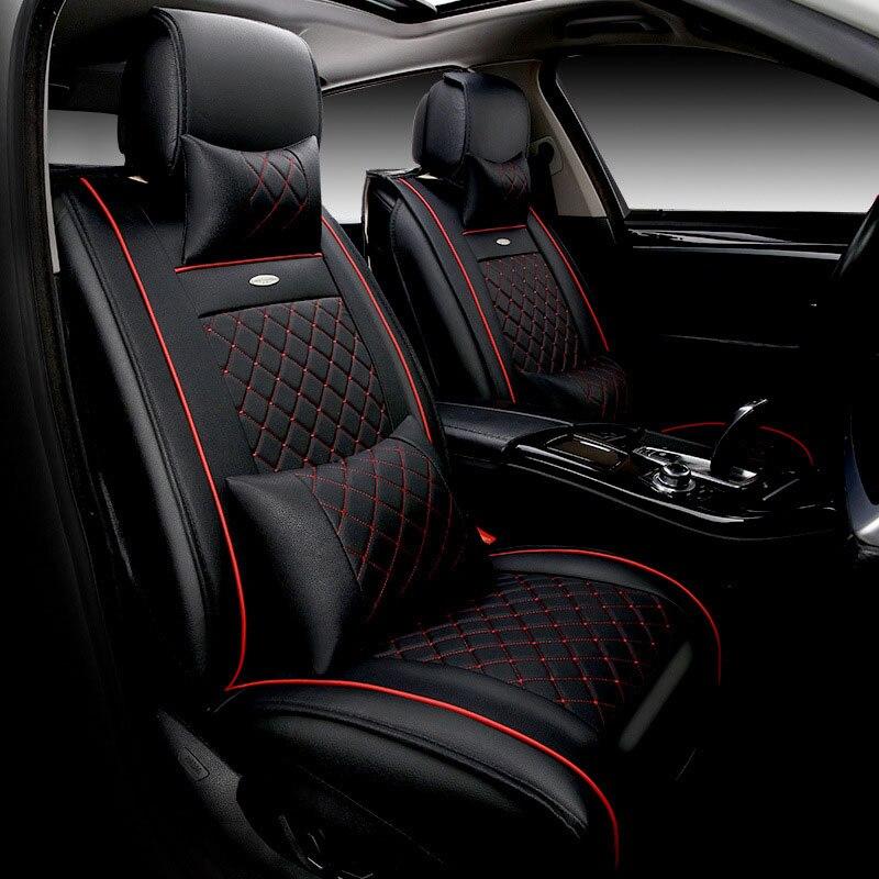 ΞCuero de lujo asiento de coche cubre universal asientos ...