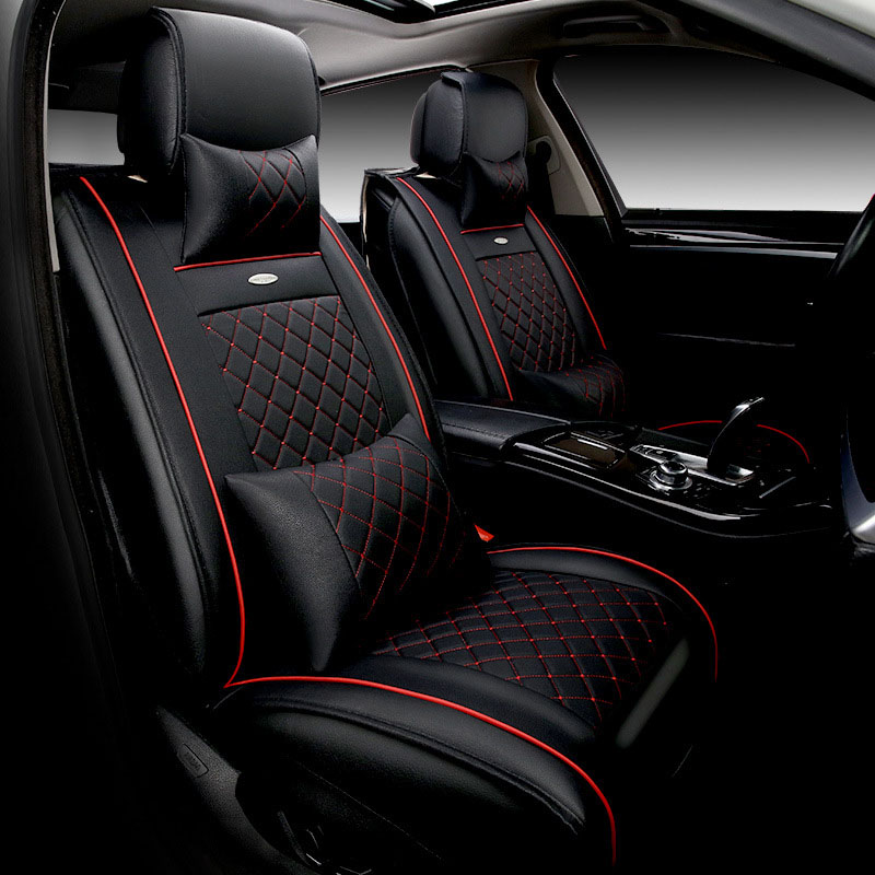 luxury leather car seat covers Universal automotive seat covers Interior Accessories car-styling for bmw e46 ford toyota renault brand new styling luxury leather 5 color 3d car seat covers front