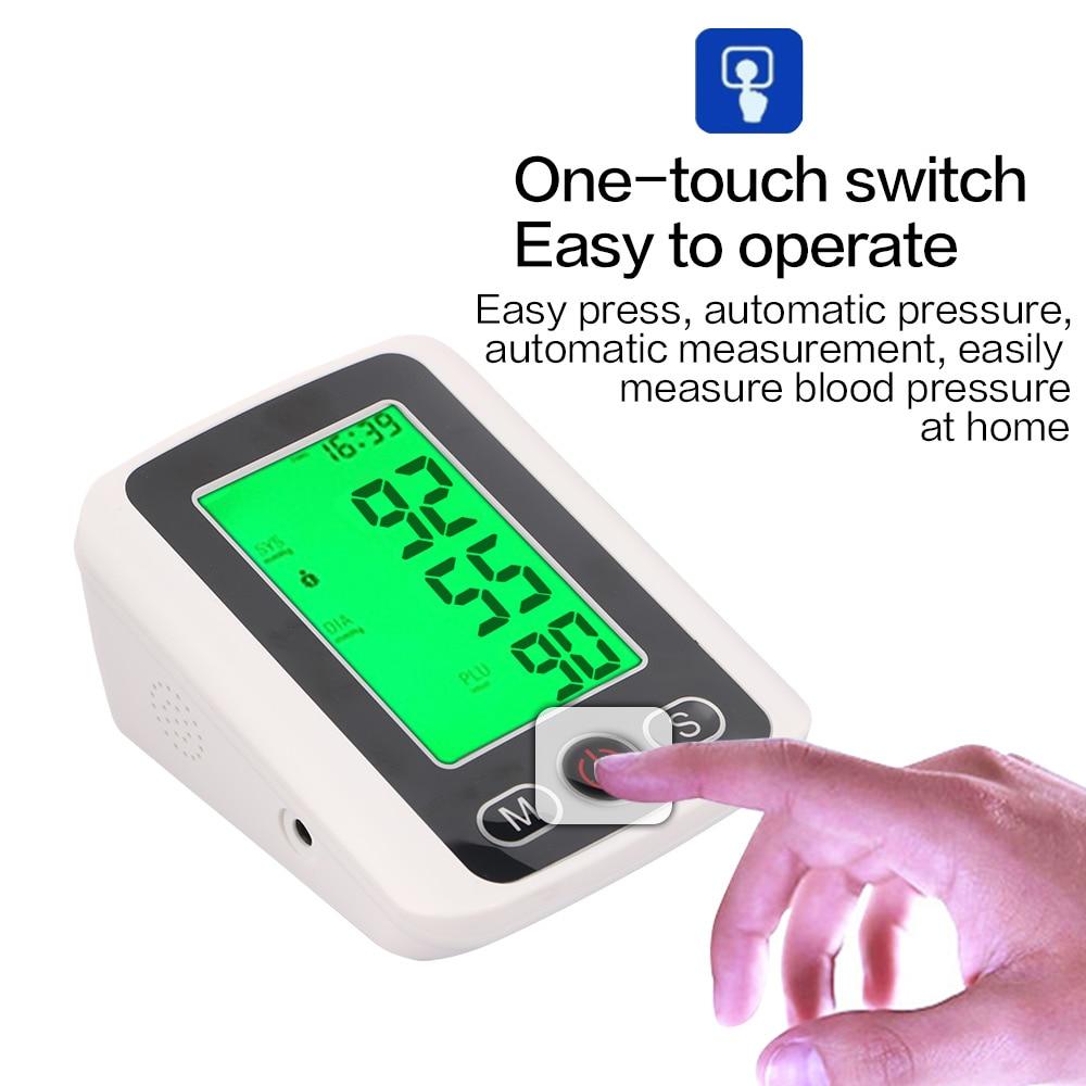 Home Health Care Russian voice Digital Lcd Upper Arm Blood Pressure Monitor Heart Beat Meter Tonometer for Measuring tensiometro