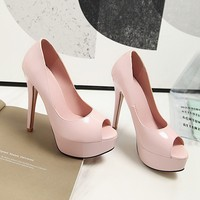 Большие размеры 9, 10, 11, 12, босоножки на высоком каблуке Женская обувь женские летние сандалии с бантом на толстом каблуке