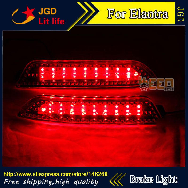 Free shipping Tail light parking warning rear bumper reflector for Hyundai Elantra 2008-2010 Car styling [ free shipping ] brand new led rear light led back light benz style tail lamp for hyundai elantra 2012