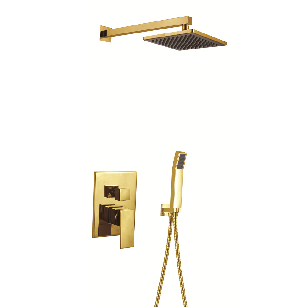 compare prices on gold bath taps online shopping buy low price 2017 wholesale promotion premium square style bathroom shower set luxury gold in wall bath