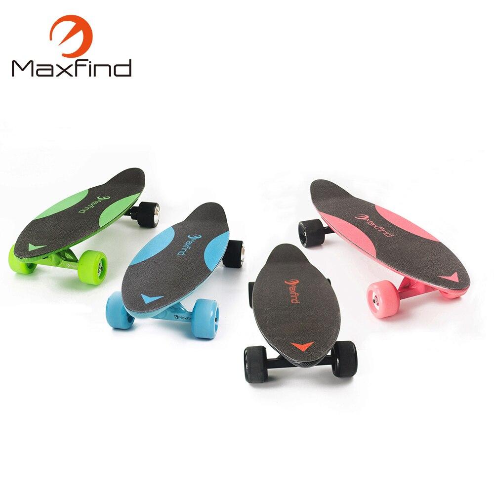Maxfind 2017 lightest 4 wheel electric skateboard Hub Motor 3.7KG for children maxfind electric skateboard longboard 4 wheels hub motor samsung battery for adults